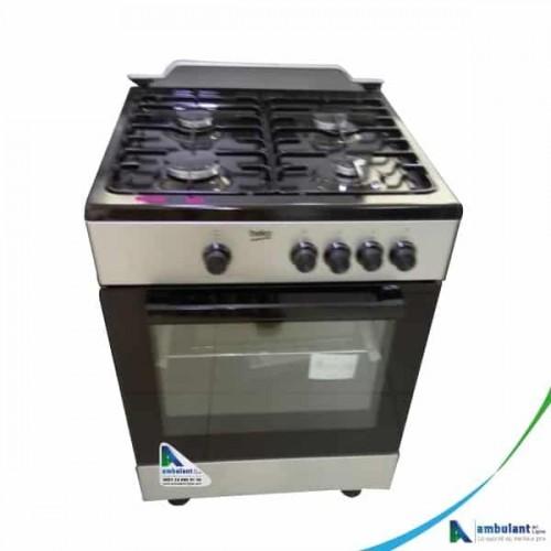 Cuisinière à gaz 4 feux 60/60 BEKO FSG62000-GS