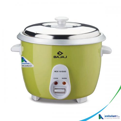 Cuiseur à riz multifonction double bol 1.8 litre (vert) Bajaj - RCX 1.8 DUO