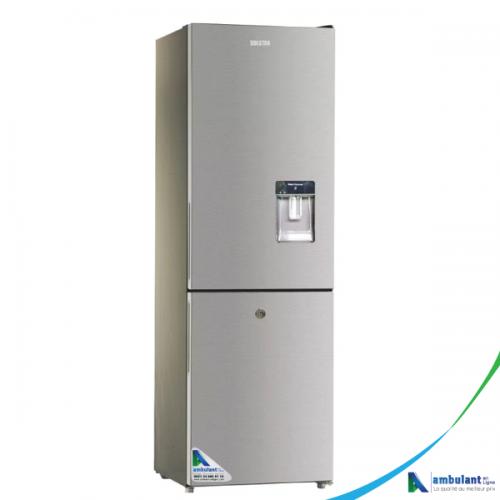 Réfrigérateur Combine 3 Tiroirs  avec fontaine SOLSTAR 244 Litres - RF335-TDSLV SS