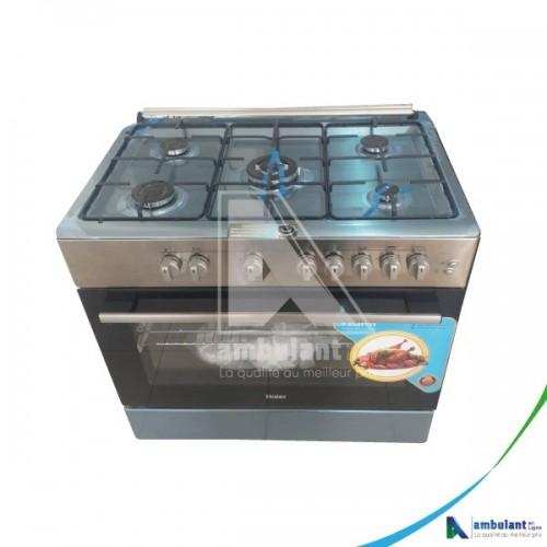 Cuisiniere 5 feux 90-60 inox HAIER HCR6050EGS