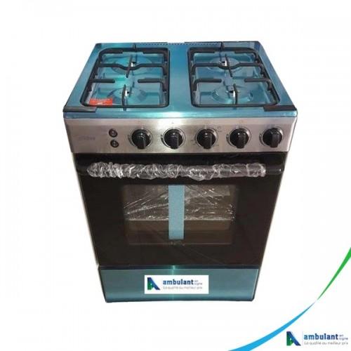 Cuisinière 4 Feux Inox 60x60 Midea 24LME65038