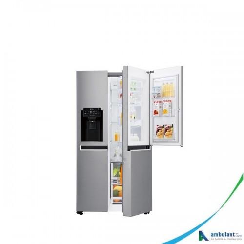 Réfrigérateur side by side inverter smart Diagnostique 600L LG GC-J247SLUV
