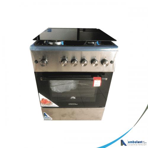 Cuisinière à gaz 4 feux inox 60/60 TECNOLUX TEC60CS