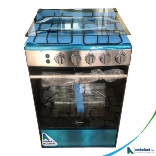 Cuisinière à gaz 4 feux 60/60 MIDEA 6060-4G059- Inox