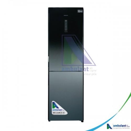 Réfrigérateur combiné 3 tiroirs 366L inverter Hitachi R-BG410PBX-GBK