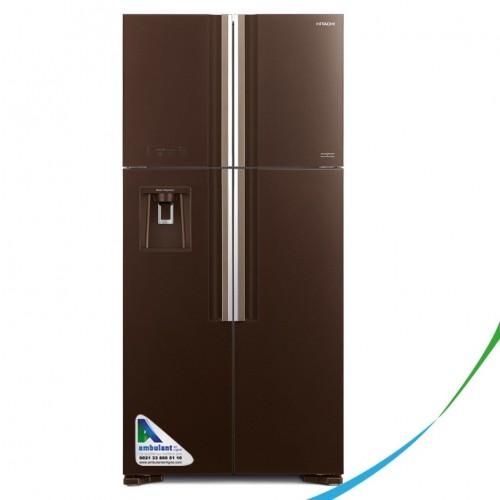 Réfrigérateur Side By Side Inverter 586L HITACHI en verre RW-660 marron