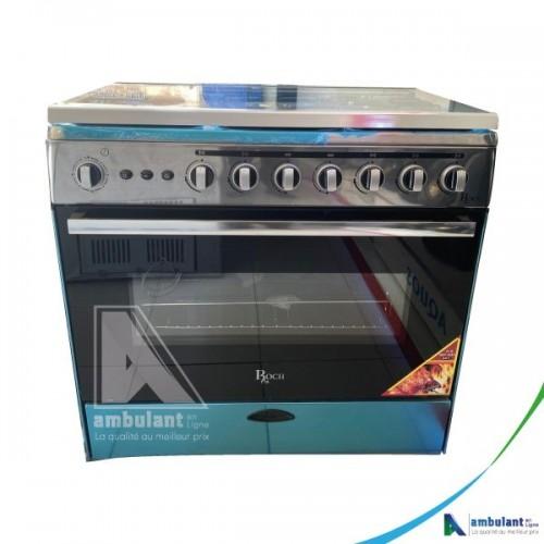 Cuisinière à gaz 5 feux 90/60 ROCH Inox