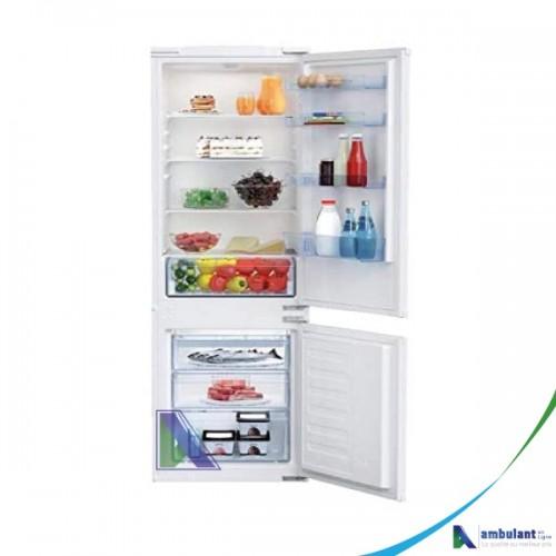 Réfrigérateur Combiné BEKO 3 tiroirs 271L encastrable A+ BCSA 285K2S